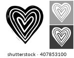 line heart vector hand drawn... | Shutterstock .eps vector #407853100