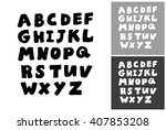 alphabet vector hand drawn... | Shutterstock .eps vector #407853208