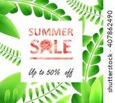 summer sale banner  | Shutterstock .eps vector #407862490