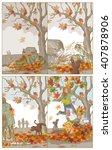 early autumn fun | Shutterstock . vector #407878906