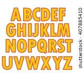 yellow textile alphabet | Shutterstock . vector #407885410