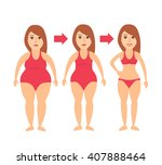 woman body transformation from... | Shutterstock .eps vector #407888464