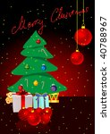 christmas background with... | Shutterstock . vector #40788967