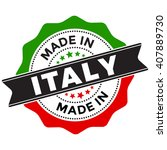 made in italy vector seal label ... | Shutterstock .eps vector #407889730