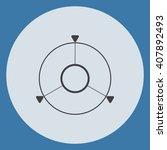navigation icon | Shutterstock .eps vector #407892493