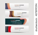 set of banner templates. | Shutterstock .eps vector #407899594