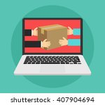 flat design colorful vector... | Shutterstock .eps vector #407904694