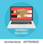 concept of the fast delivery... | Shutterstock .eps vector #407904820