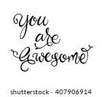 exclusive hand lettered phrase... | Shutterstock .eps vector #407906914