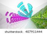 abstract glass interior. 3d...   Shutterstock . vector #407911444