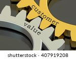 customer value concept on the... | Shutterstock . vector #407919208
