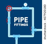pipe fitting vector set | Shutterstock .eps vector #407920180