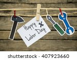 happy labor day greeting card... | Shutterstock . vector #407923660