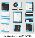 mock up vector set.   Shutterstock .eps vector #407924740