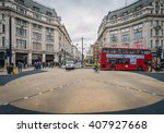 london nov 09 view of oxford... | Shutterstock . vector #407927668