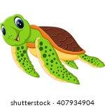 Illustration Of Cute Turtle...