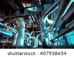 equipment  cables and piping as ... | Shutterstock . vector #407938654