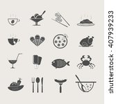set of food and drink icons  ... | Shutterstock .eps vector #407939233