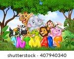 illustration of word animal... | Shutterstock . vector #407940340