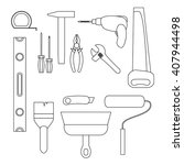 building tool  set master for... | Shutterstock .eps vector #407944498