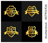 set of gold shield different... | Shutterstock .eps vector #407951926