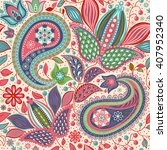 vector oriental seamless... | Shutterstock .eps vector #407952340
