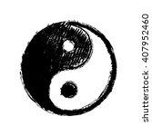 yin yang symbol hand drawing   Shutterstock .eps vector #407952460