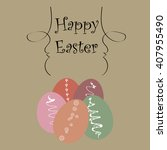 template easter greeting card ...   Shutterstock .eps vector #407955490