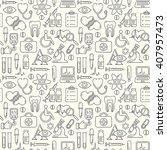 seamless medical background... | Shutterstock .eps vector #407957473