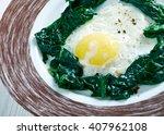 nargesi esfenaj    spinach with ... | Shutterstock . vector #407962108
