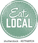 eat local food stamp | Shutterstock .eps vector #407968924