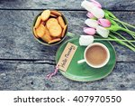 coffee with biscuits and... | Shutterstock . vector #407970550