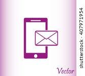 mobile vector icon  | Shutterstock .eps vector #407971954