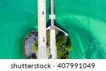 aerial view of bridge... | Shutterstock . vector #407991049