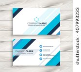 modern business card with blue... | Shutterstock .eps vector #407993233
