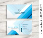 blue stripes business card | Shutterstock .eps vector #407993278