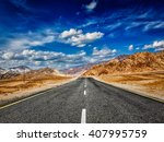 road in mountains himalayas and ... | Shutterstock . vector #407995759