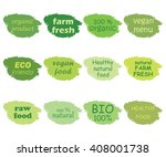 vector set of healthy organic... | Shutterstock .eps vector #408001738