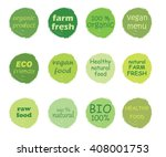 vector set of healthy organic... | Shutterstock .eps vector #408001753