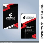 modern business card template ... | Shutterstock .eps vector #408008308