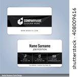 modern business card template ... | Shutterstock .eps vector #408009616
