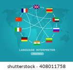 vector detailed language... | Shutterstock .eps vector #408011758