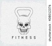 grunge skull in the form of...   Shutterstock .eps vector #408012376