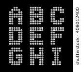 vector diamond letters a i | Shutterstock .eps vector #408012400