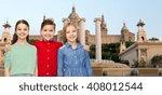 childhood  travel  tourism ... | Shutterstock . vector #408012544
