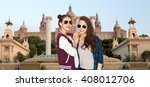people  friendship  travel ... | Shutterstock . vector #408012706