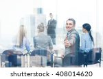 business  office and success... | Shutterstock . vector #408014620