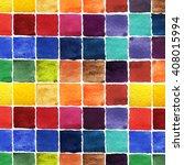 watercolor colorful square... | Shutterstock . vector #408015994