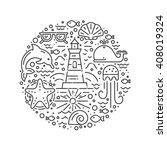 modern vector illustration with ... | Shutterstock .eps vector #408019324