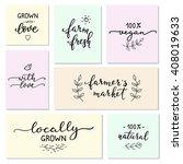 hand written calligraphy style... | Shutterstock .eps vector #408019633